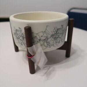 Modernica x Chocolate Evan Hecox Ceramics Desk Top Cylinder w Wood Stand Print