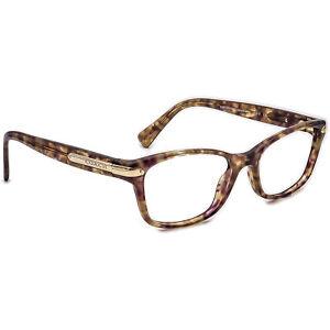 Coach Eyeglasses HC 6065 5287 Confetti Light Brown Rectangular Frame 49[]17 135