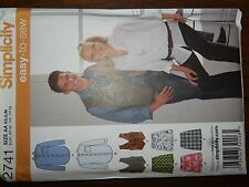 Simplicity 2741 Womens Mens Shirt Vest Boxer Shorts XS S M Easy to Sew Pattern