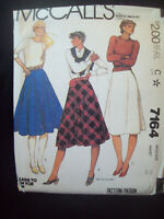Vintage McCalls Pattern 7164 How to Sew Skirts Junior Size 7/8 Uncut 1980s NOS