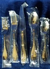 ANTIONETTE Gold Accent by Christian Dior Stainless 1-5 pc PLACE SETTING