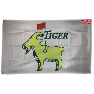 Masters Tiger Woods Goat Flag 3x5 Sport 3 x 5 Banner Augusta National Golf Club