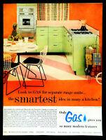 Vtg 1956 gas range Republic steel cabinet kitchen advertisement print ad