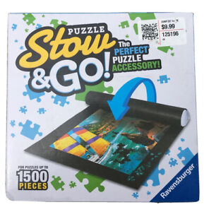 "NEW! STOW & GO - PUZZLE STORAGE MAT - UP TO 1500 PCS. - 46"" x 26"" Ravensburger"