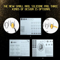 Nail Art Silicone Practice Mat Pad Stamping Plate Sticker Washable Manicure L