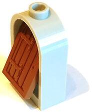 LEGO pièce de rechange. Arch porte. 30044 X 2 in (environ 5.08 cm) Lt Gris Pierre WT Red Brown Porte Insert