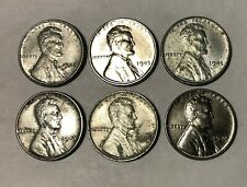 1943 P  Steel Lincoln Wheat Cent Penny - Lot of 6