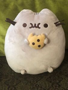 "Gund 10"" Pusheen Kitty Cat with Cookie Plush Stuffed Animal"