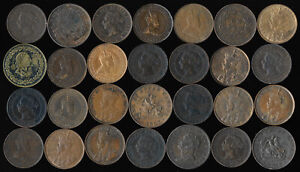 (1812-1920) 28 CANADA LARGE CENTS & TOKENS > MOSTLY XF & BETTER > NO RESERVE