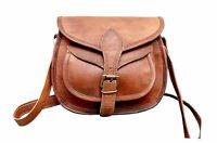 NEW Women's Vintage Genuine Brown Pure Leather Messenger Shoulder Cross Body Bag