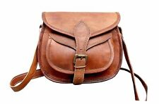 840e86851 NEW Women's Vintage Genuine Brown Pure Leather Messenger Shoulder Cross  Body Bag