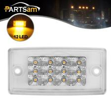 Clear/Yellow 12 LED Cab Marker Roof Top Reflective Light for Freightliner/Volvo