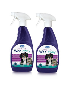 RSPCA Wee Away Probiotic  2 x 500ml  Pet Friendly Stain & Odour Remover