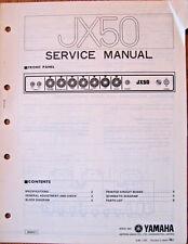 Yamaha JX50 Guitar Amplifier Original Service Manual, Schematics Parts List Book