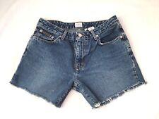 Calvin Klein Womens Blue Denim Jeans Cut Off Shorts size 7