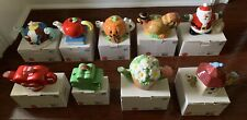 Oneida Collectible Miniature Teapot Monthly Themed Set of 9 Rare New