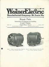 Wagner Electric Bulletin No. 123 Feb 1920 Ordering & Installing Repair Parts