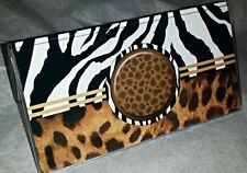 Checkbook Cover Animal Print Zebra Stripes Monogrammed Optional