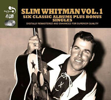 Slim Whitman SIX (6) CLASSIC ALBUMS +SINGLES Country Favorites SINGS New 4 CD