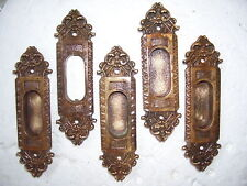 ANTIQUE Ornamental BRASS / Bronze WINDOW LIFTS - 5 Matching - SET   =