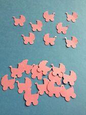 50 Pink baby pram baby shower table confetti, scrapbooking, craft, decoration