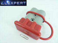 ANDERSON PLUG DUST COVER END CAP FOR SB 350 AMP CONNECTOR (RED RUBBER)