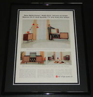 1958 RCA Victor TV 11x14 Framed ORIGINAL Vintage Advertisement B