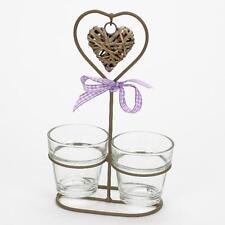 GREY handcrafted TEALIGHT Holder ~ ~ ~ METALLO ELEGANTE REGALO WEDDING TAVOLO