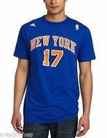 Adidas Mens NBA New York Knicks Jeremy Lin Player Tshirt Top Blue Sizes S - 2XL