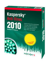 Kaspersky Lab Anti-Virus 2010 (Windows 7, Vista & Windows XP) Works Notebook NEW