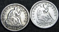 1853+1854 Seated Liberty Half Dimes Silver - Type Coins Lot - #F072