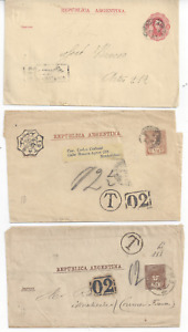 ARGENTINA  POSTAL STATIONERY LETTER SHEETS AND WRAPPERS x 16  (12 SCANS)
