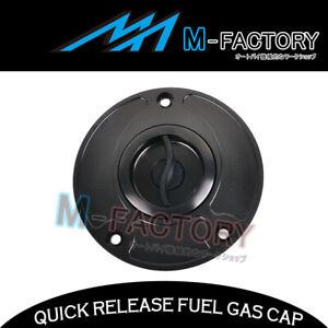 For Suzuki SV650 SV650S 04-12 09 10 11 Black Billet Quick Release Gas Fuel Cap
