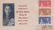 Leeward Islands -1937 KGVI Coronation First Day Cover to New York - Photo Cachet