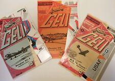 Geli Vintage Paper airplane model kits lot of 3 Technicher Modellbogen new cond.