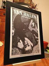 """Framed Van Halen """"Fair Warning"""" Lp Record Album Cd Promo Ad"""