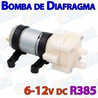 Bomba diafragma R385 6v-12v DC 2,1l/min para acuario riego Electronica Arduino
