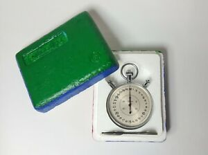 Russian Vintage Slava Soviet split mechanical stopwatch. Made in USSR .