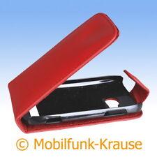 Flip Case Etui Handytasche Tasche Hülle f. Nokia Lumia 610 (Rot)