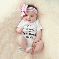 Newborn Infant Baby Boy Girl Cotton Romper Jumpsuit Bodysuit Kids Cloth Outfit A