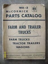 Original Vintage 1952? IH McCormick Deering Farm and Trailer Trucks lots pages