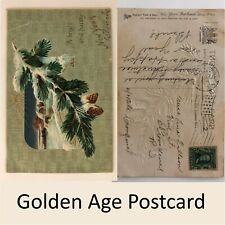 A Bright & Happy New Year Postcard Embossed - Tucks Franklin Stamp 1908 Mark