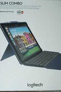 Logitech Slim Combo für iPad PRO 12.9 Case mit abnehmbarer Tastatur Verpackungss