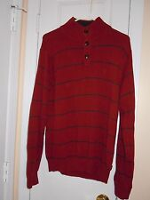 Izod Men's Size M Red Mock Turtleneck Pullover Sweater Excellent Used Condition