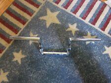 "Used Harley Vintage Chrome Twisted Z-Bars Handle Bar 1"" Chopper Custom Bobber"