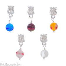 30Mix Versilbert European Glasperlen Dangle Bead
