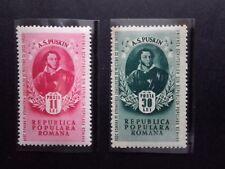 1949 - Romania - A.S.Puskin, Mi.1187 - 1188 , MNH