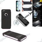 Coque Etui View Cover Case Rabat Apple iPhone 5C + 2 Films Verre Trempe