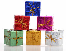Christmas Tree Decor Multi-Color Hanging Gift Boxes Xmas Party Wedding Ornaments