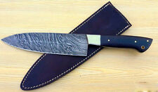 """Handmade"" Damascus Steel Blade Handmade Kitchen / Chef Knife Micarta Handle"